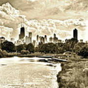 Lincoln Park View Sepia Art Print