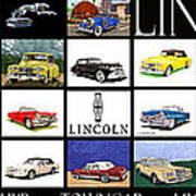 Poster Of Lincoln Cars Art Print