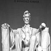 Lincoln Sitting Art Print