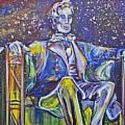 Lincoln Snowballs Art Print