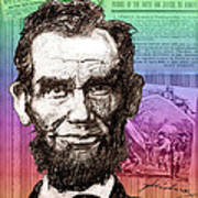 Lincoln's Billboard Of History Art Print