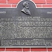 Lincoln's Gettysburg Address Plaque Art Print