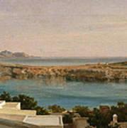 Lindos Rhodes Art Print