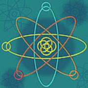 Line Atomic Structure Art Print