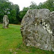 Line Of Avebury Stones Art Print