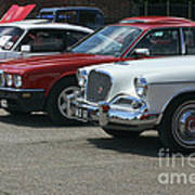 A Line Up Of Vintage Cars Art Print