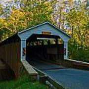 Linton Stevens Covered Bridge Art Print