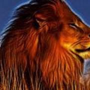 Lion - King Of Animals Art Print