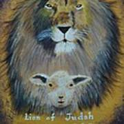 Lion And The Lamb Art Print
