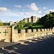 Lion Bridge At Alnwick Castle Art Print