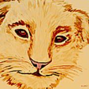 Lion Cub Art Print by Elizabeth S Zulauf