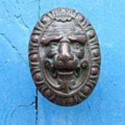 Lion Face Door Knob Art Print by Lainie Wrightson