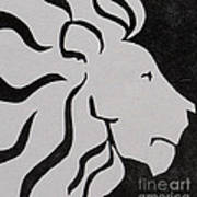 Lion Graphic King Of Beasts Art Print by M C Sturman