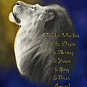 Lion Adoration Art Print