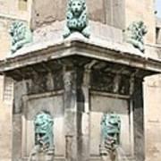 Lionfountain - Part Of The Obelisk - Arles Art Print