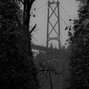 Lions Gate Bridge Print by Nancy Harrison