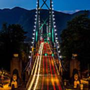 Lion's Gate Bridge Vancouver B.c Canada Art Print