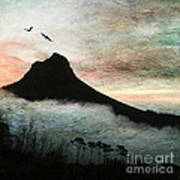 Lion's Head Cape Town Art Print