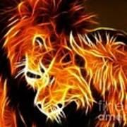 Lions In Love Art Print by Pamela Johnson
