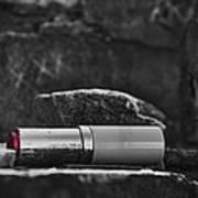 Lipstick - Bw  Art Print