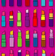 Lipsticks Pattern Art Print