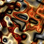 Liquid Mercury And Rust Art Print