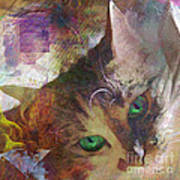 Lisa Beckons - Square Version Art Print