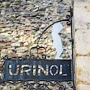 Lisbon, Portugal. Sign For Urinal Art Print