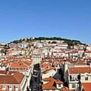 Lisbon Skyline Art Print