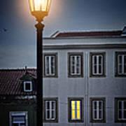 Lisbon Street Lamp Art Print
