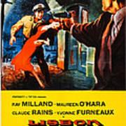 Lisbon, Us Poster Art, Ray Milland Art Print