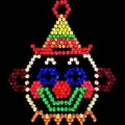 Lite Brite - The Classic Clown Art Print