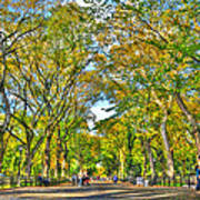 Literary Walk In Central Park Art Print