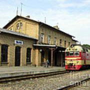 Lithuania. Silute Train Station. 2008 Art Print