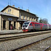 Lithuania. Silute Train Station. 2009 Art Print