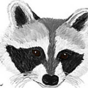 Little Bandit - Raccoon Art Print by Elizabeth S Zulauf