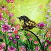Little Bird In Green Art Print