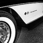 Little Black Corvette Palm Springs Art Print