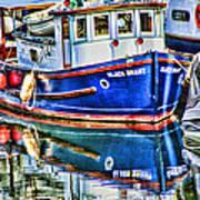 Little Blue Boat Hdr Art Print