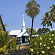 Little Blue Church Kona Art Print