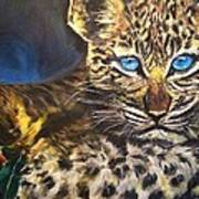 Little Blue Eyes Art Print