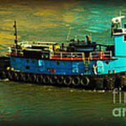 Little Blue Tug - New York City Art Print
