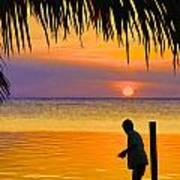 Little Boy Fishing Caye Caulker Belize Art Print