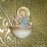 Newborn Boy In The Baptismal Font Sculpture Art Print