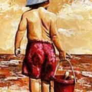 Little Boy On The Beach II Art Print
