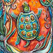 Little Brother Turtle II Art Print