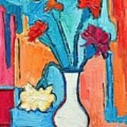Little Carnations China Pink Flowers Art Print by Ana Maria Edulescu