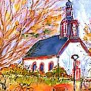 Little Church In Ginsheim Art Print