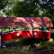 Little Covered Bridge Art Print