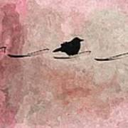 Little Crow In The Pink Art Print